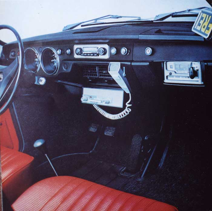 Brochure: taxicab interior