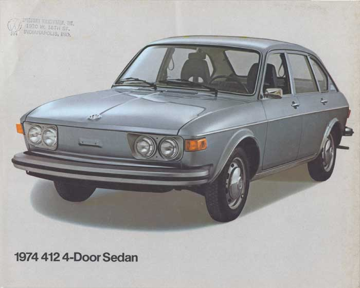 A flyer for the 1974 VW 412 4-door