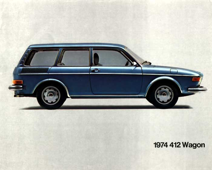 A flyer for the 1974 VW 412 Wagon